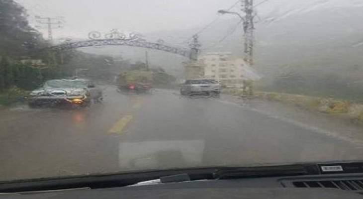 أمطار غزيرة على مرتفعات عكار أخمدت حريقا في احراج بلدة حرار