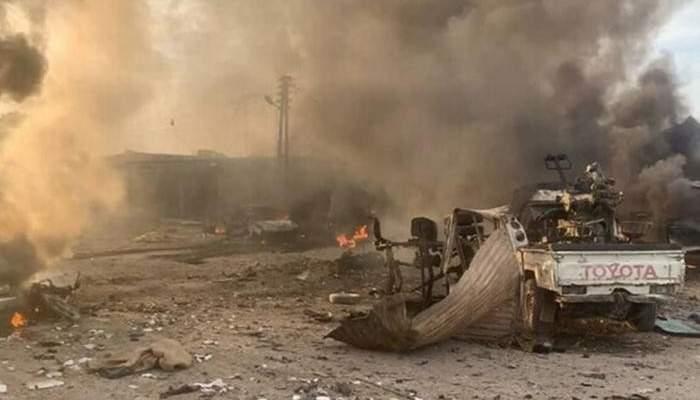المرصد السوري: مقتل شخص وإصابة آخرين بانفجار سيارة مفخخة برأس العين السورية