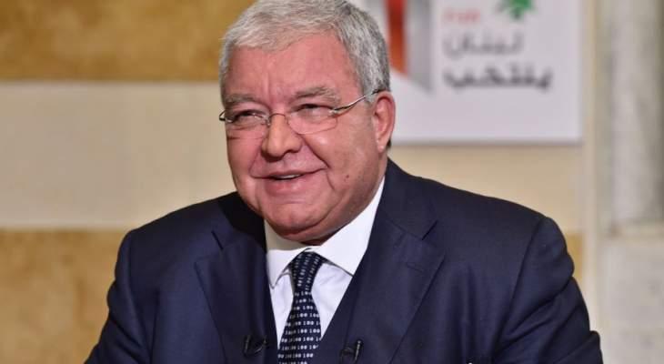المشنوق تابع عودة النازحين مع جيرار وتدريب الأمن الداخلي مع كونتسه