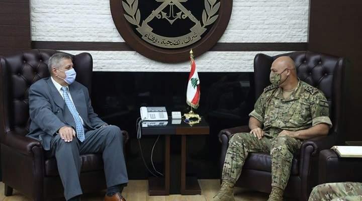 قائد الجيش عرض مع كوبيتش الأوضاع العامة في لبنان والمنطقة