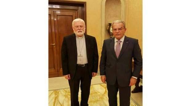 أمين سر الفاتيكان للشؤون الخارجية التقى الخازن: لا خوف على لبنان الذي يوليه البابا عناية فائقة
