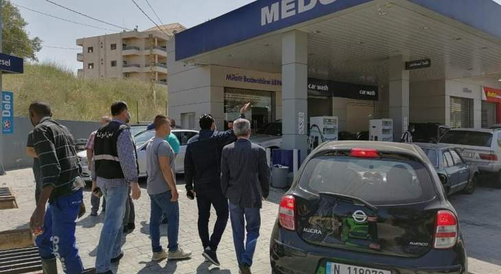 جولة لمدير عام وزارة الاقتصاد على محطات الوقود في النبطية