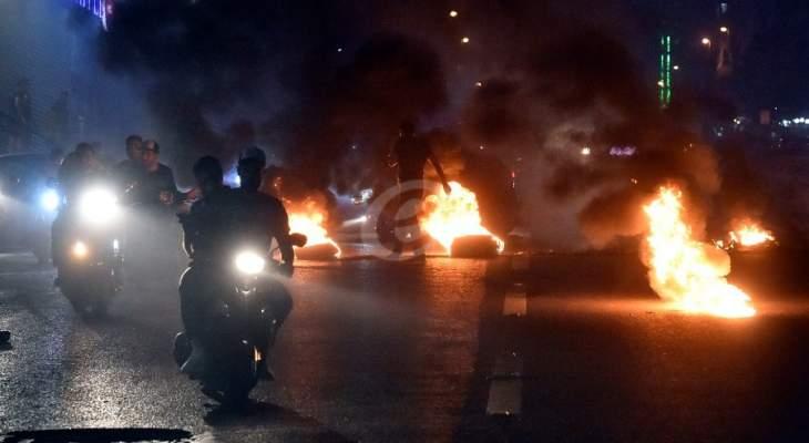 القوى الامنية في منطقة الزهراني فتحت جميع الطرقات بمؤازرة الجيش