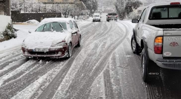 النشرة: إشتداد وطأة العاصفة في حاصبيا وتساقط كثيف للثلوج