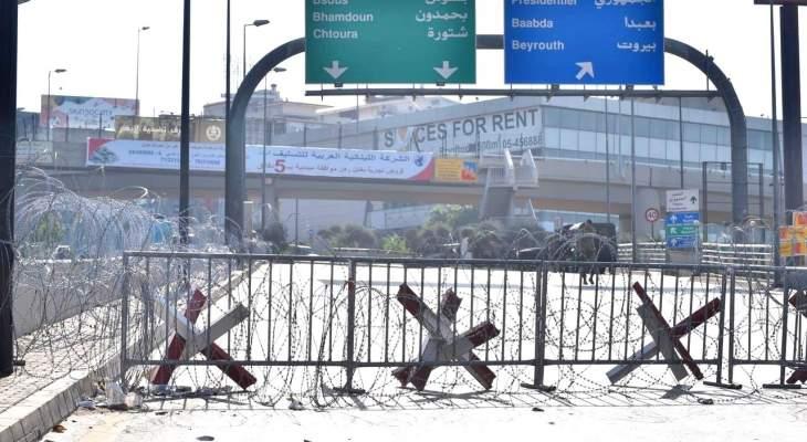انتشار كثيف للجيش على طريق القصر الجمهوري واتخاذ تدابير أمنية مشددة