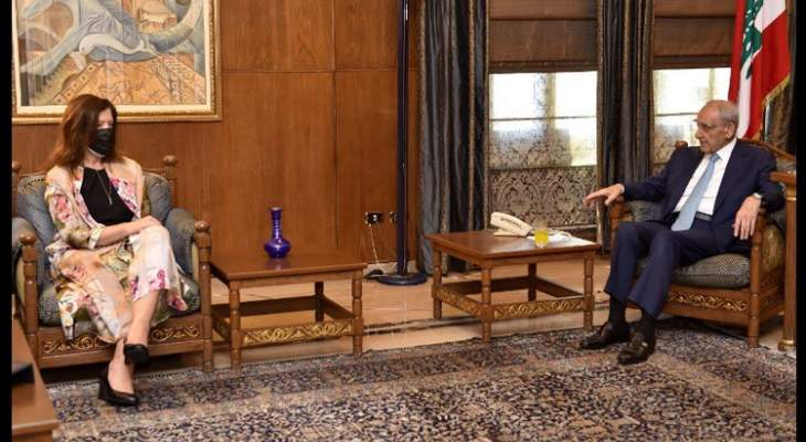 السفيرة الأميركية التقت بري وغادرت من دون الادلاء بأي تصريح