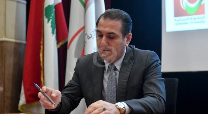 حواط خلال إطلاق التعليم عن بعد: الأولية للمدارس الرسمية والجامعة اللبنانية