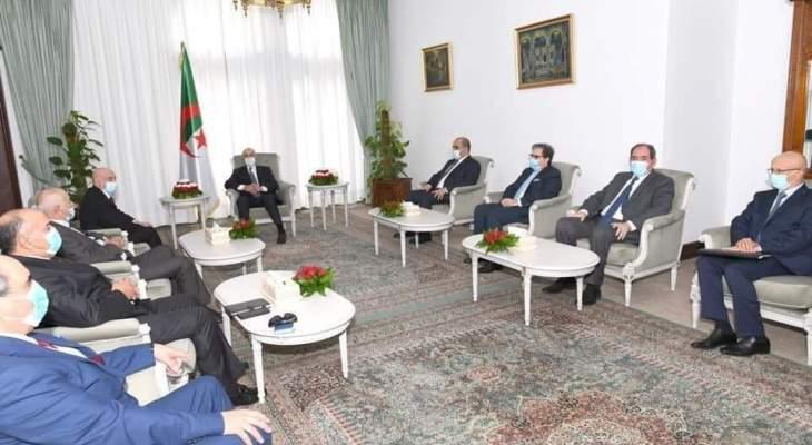 الرئيس الجزائري يستقبل رئيس مجلس النواب الليبي والوفد المرافق