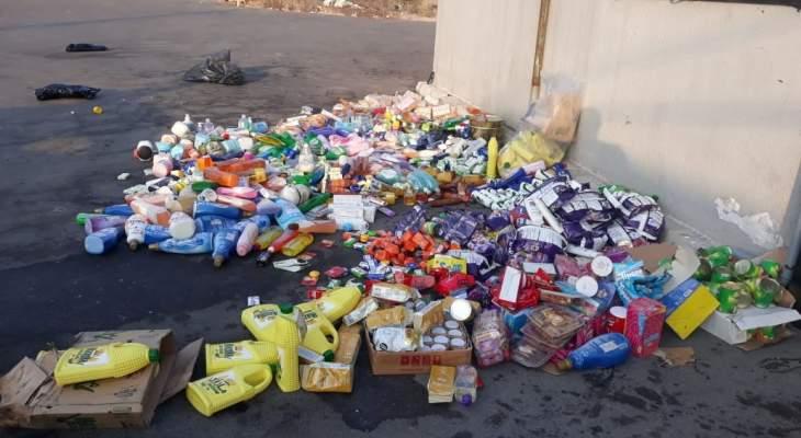 ضبط كميات كبيرة من المواد الغذائية منتهية الصلاحية في تعاونية بالجنوب