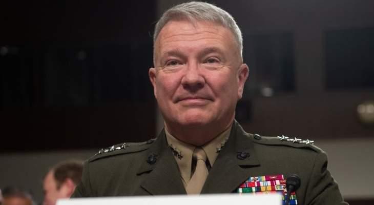 قائد القيادة المركزية الأميركية: وجودنا في العراق سيكون طويلا لردع إيران