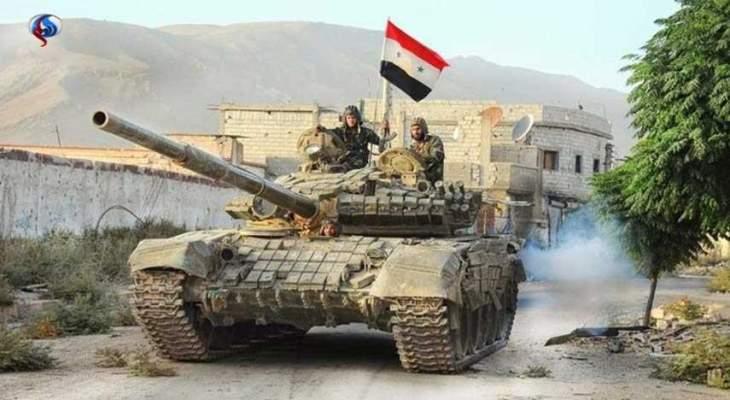 النشرة:الجيش السوري واصل التمهيد الناري على مواقع المسلحين في ريف حماه
