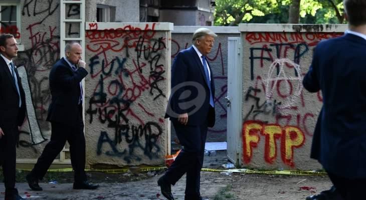 """مصدر لـ""""CNN"""": ترامب غاضب من كشف اختبائه في قبو البيت الأبيض"""