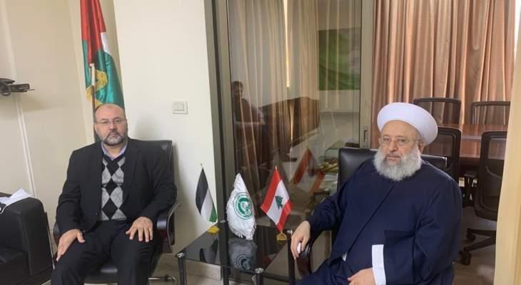 الشيخ حمود إستقبل بركة واستعراض آخر التطورات بفلسطين والمنطقة