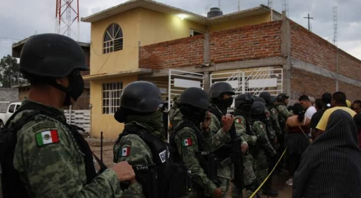 الجيش المكسيكي قتل 9 مسلحين في تبادل لإطلاق النار قرب الحدود