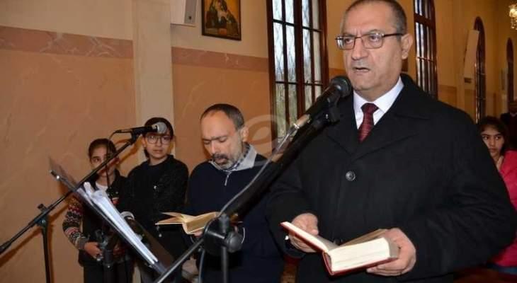 المطران العمار وكهنة أبرشية صيدا يهنئون اللبنانيين بالتهنئة بعيد الفطر