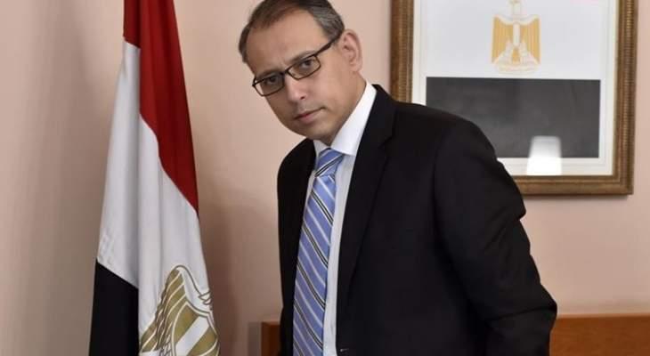 النجاري التقى الحريري: أكدت دعم حكومة مصر وحرصها على تطوير الشراكة بين البلدين