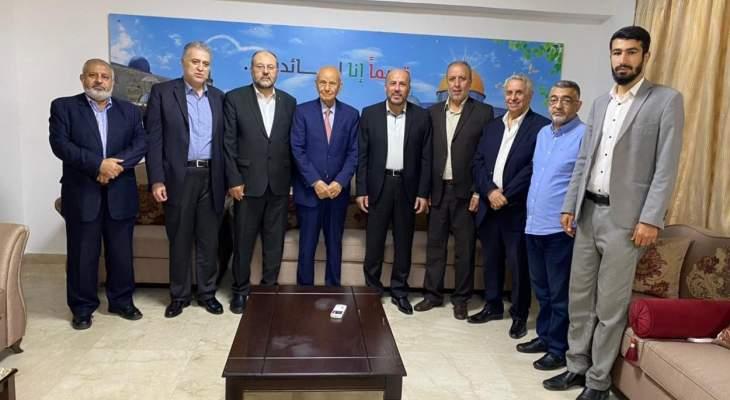 عبد الهادي استقبل الوزير مراد مهنِّئاً بانتصار المقاومة الفلسطينية