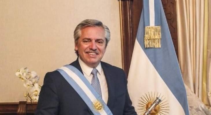 """الرئيس الأرجنتيني اعلن تغلبه بسهولة على كورونا بسبب تلقيه لقاح """"سبوتنيك"""" الروسي"""