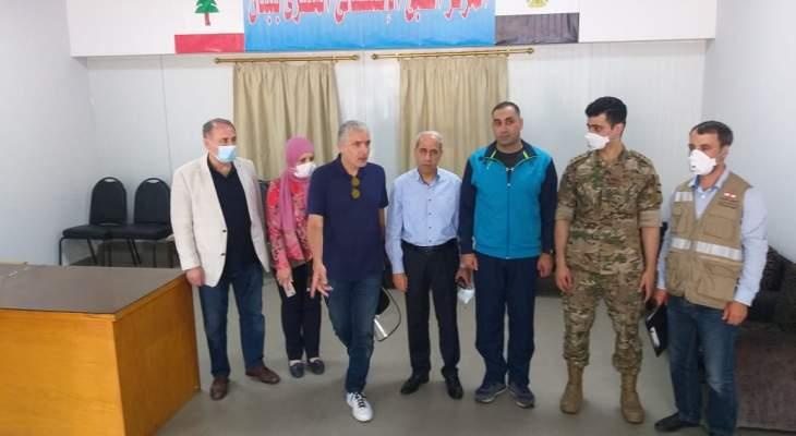 اللواء خير تفقد المستشفى المقدم من مصر لمنطقة حرج بيروت