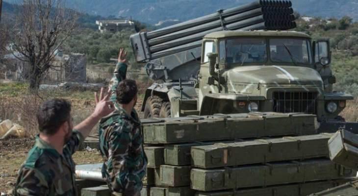 المرصد السوري: جرحى في قصف صاروخي لقوات النظام السوري على ريف إدلب