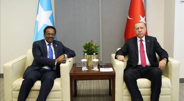 اردوغان التقى الرئيس الصومالي في مقر الأمم المتحدة بنيويورك