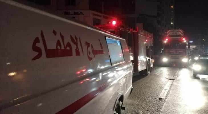 فوج اطفاء بيروت : اخماد حريق على سطح إحدى المباني في منطقة الضناوي