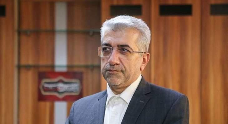 وزير الطاقة الإيراني: نعمل على تسهيل التجارة بين دول الجوار