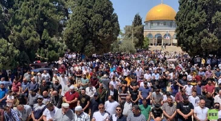 الأوقاف الإسلامية في القدس: 60000 مصل أدوا صلاة الجمعة بالمسجد الأقصى