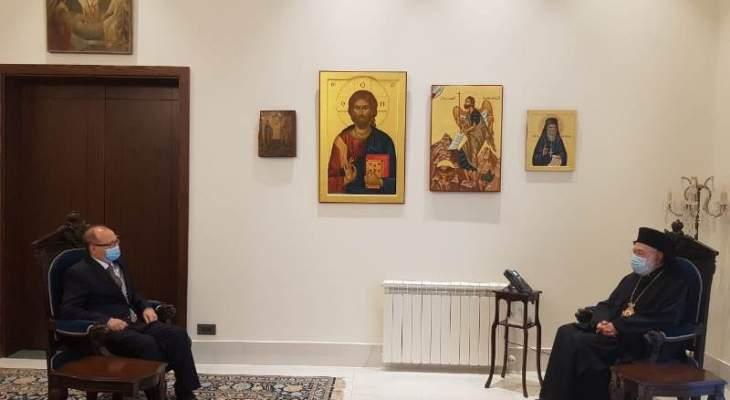 عودة بحث وسفير النمسا في مواضيع لاهوتية والوضع السياسي