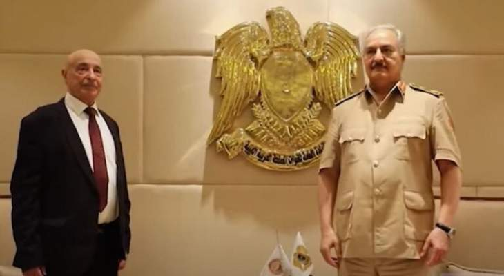 حفتر وصالح يصلان القاهرة بزيارة مفاجئة لمناقشة المبادرات السياسية
