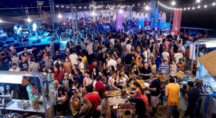 كيدانيان وباسيل زارا مهرجان النبيذ في البترون وتذوقا المنتوجات البترونية