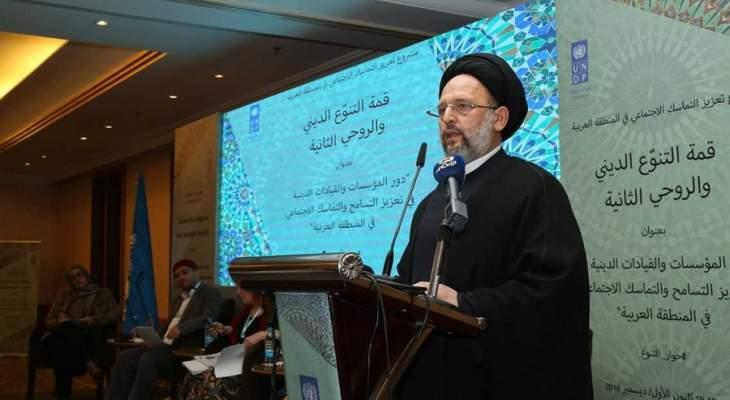 السيد فضل الله: لاطلاق مشروع وطني للإصلاح تشارك فيه كل القوى السياسية