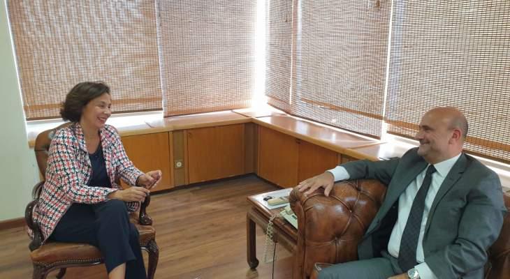 أبي رميا بحث مع وزيرة التنمية الادارية متابعة مشروع الحكومة الالكترونية