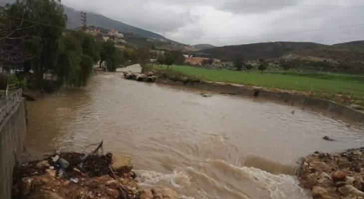 النشرة: ارتفاع منسوب نهر الزهراني ونهر الليطاني بسبب الأمطار الغزيرة
