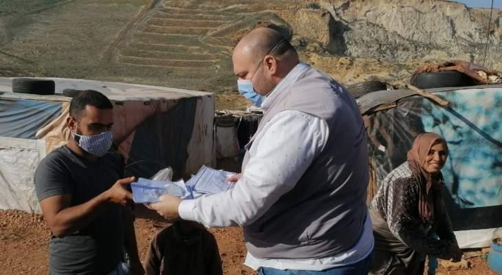 """النشرة: مؤسسة """"شيلد"""" وزعت ألف كمامة على النازحين السوريين في مخيم مرج الخوخ"""