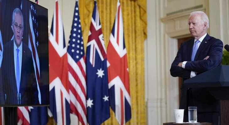 زعماء أميركا وأستراليا وبريطانيا يعلنون اتفاقاً للتعاون الدبلوماسي والأمني والدفاعي