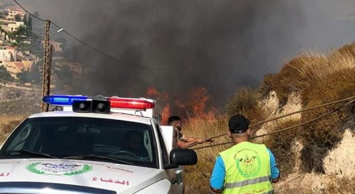 جمعية الرسالة للاسعاف الصحي واصلت إخماد الحرائق التي اندلعت في 15 بلدة يومي السبت والاحد