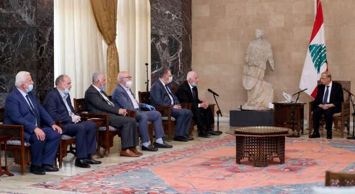 عزام الأحمد بعد لقاء عون: نحن تحت تصرف لبنان بكل امكانياتنا مهما كانت محدودة