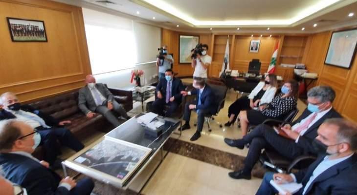 نجار بحث مع وفد ألماني برئاسة السفير إعادة إعمار مرفأ بيروت وضواحيه
