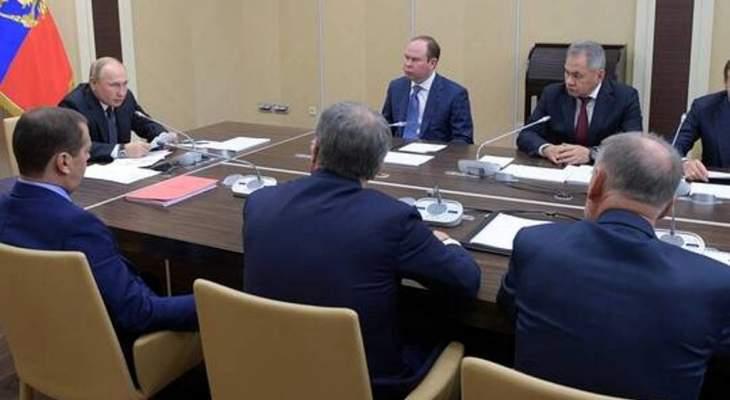 بوتين بحث مع مجلس الأمن الروسي بالوضع في إدلب ودعم الجهود الدولية لتسوية أزمة ليبيا