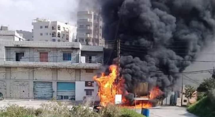 الدفاع المدني: اخماد حريق مولد للتغذية بالطاقة الكهربائية بمستيتا جبيل