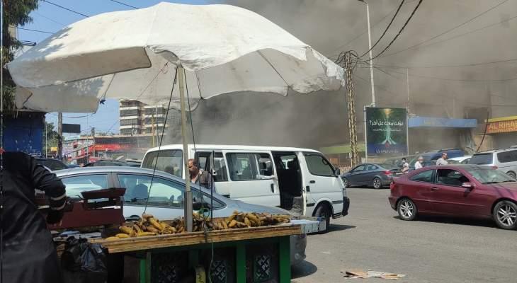 النشرة: حريق في منطقة الرحاب