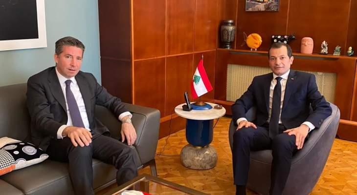 سفير لبنان في فرنسا التقى نظيره التركي وعرضه معه العلاقات الثنائية