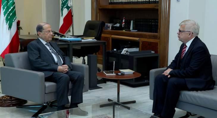 زاسبيكين نقل إلى الرئيس عون تضامن روسيا مع لبنان وشعبه بهذه المرحلة الدقيقة