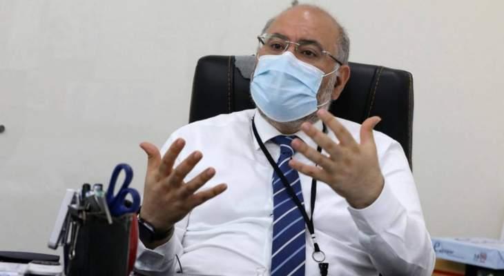 الأبيض: كورونا لا تزال موجودة بقوة في لبنان ومنتشرة على نطاق واسع