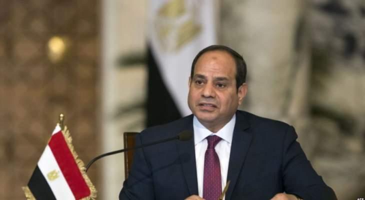 السيسي:جيش مصر سيغير المشهد العسكري بليبيا بشكل سريع وحاسم إذا تدخل
