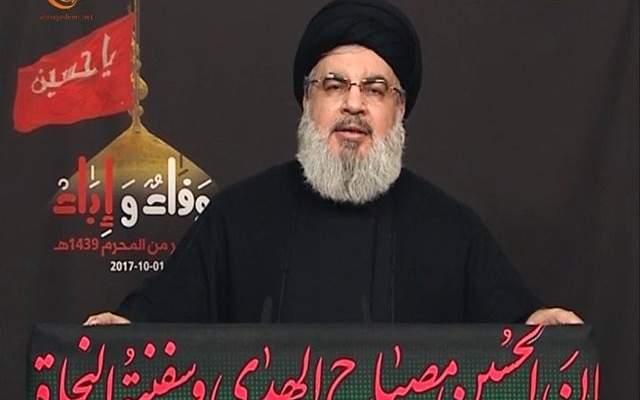 نصرالله يؤكد بقاء حزب الله بسوريا حتى اشعار آخر: لا أفق لتشكيل الحكومة