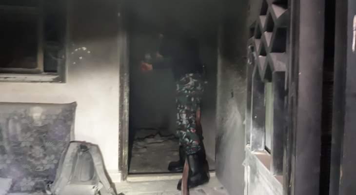 النشرة: اخماد حريق في أحد منازل عبرا