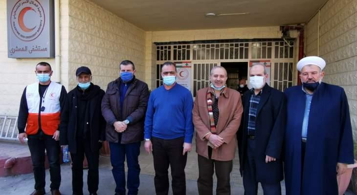 حزب الله ولجان العمل بالمخيمات سلما مستشفى الهمشري بصيدا مواد طبية لمكافحة كورونا