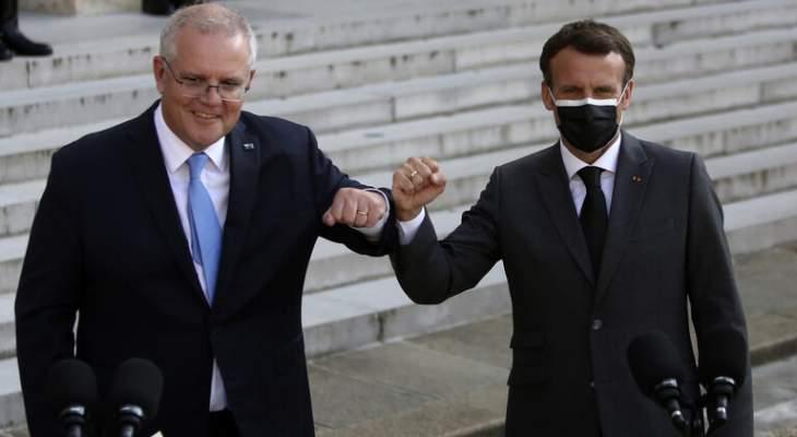 رئيس وزراء استراليا: أوضحت لماكرون قبل أشهر إمكانية إلغاء صفقة الغواصات
